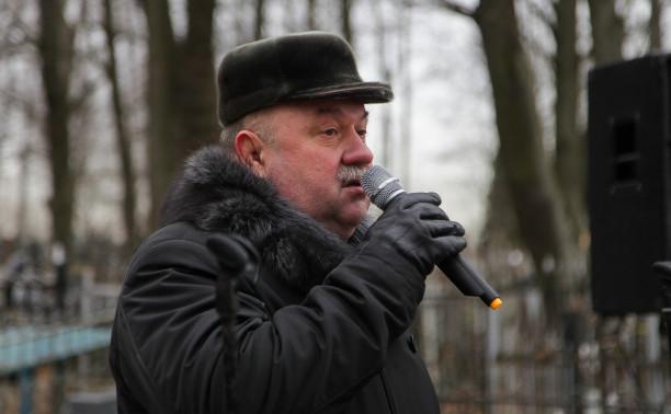 Торжественно-траурный митинг в Стрельне, посвященный Дню полного освобождения Ленинграда от фашистской блокады