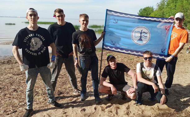 Курсанты морского центра общеинженерного образования Института                «Морская академия» - участники молодежной экологической акции